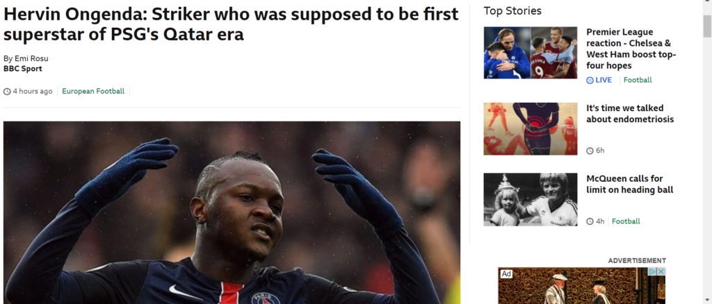 Ongenda pe site-ul BBC